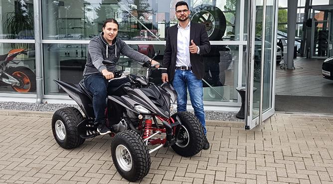 Herr Everding - Yamaha Quad - Gebrauchtfahrzeug - Ein glücklicher Kunde!