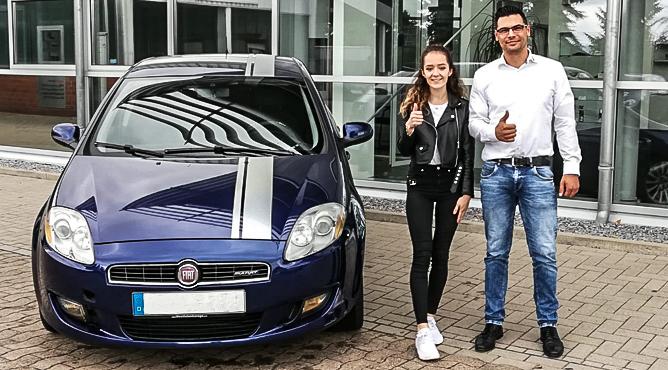 Frau Diuguan - Fiat Bravo - Gebrauchtwagen - Eine glückliche Kundin!
