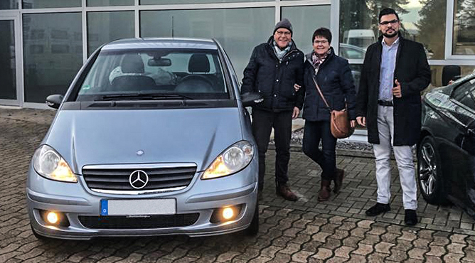 Familie Flocke - Mercedes-Benz A150 - Gebrauchtwagen - Zufriedene Kunden!