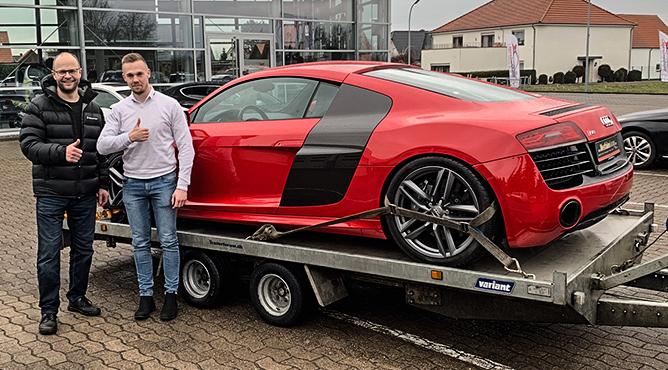 Herr Mortensteen - Audi R8 - Gebrauchtwagen - Ein glücklicher Kunde!