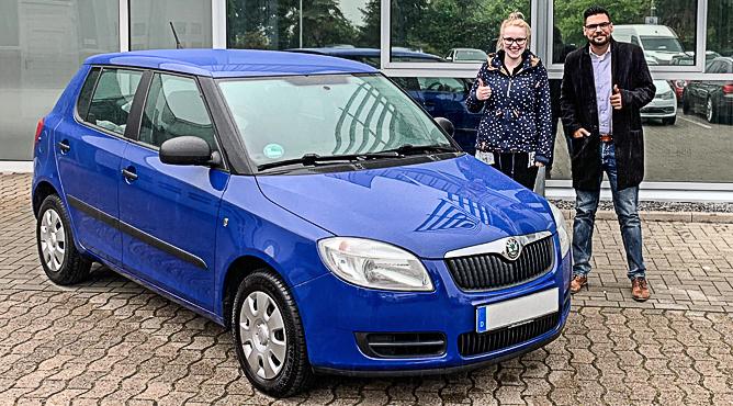 Skoda Fabia - Gebrauchtwagen - Frau Peiler - Eine glückliche Kundin!