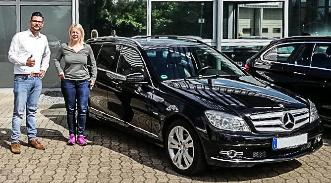 Mercedes-Benz C180 - Gebrauchtwagen - Frau Rischer - Eine glückliche Kundin!