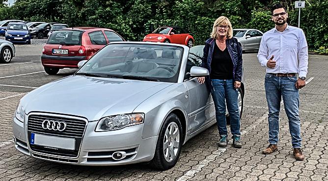 Audi A4 Cabrio - Gebrauchtwagen - Frau Flörke - Eine zufriedene Kundin!