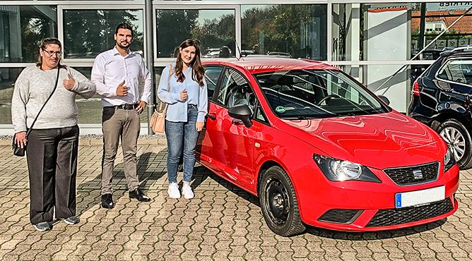 Seat Ibiza - Gebrauchtwagen - Frau Zubarew - Eine zufriedene Kundin!