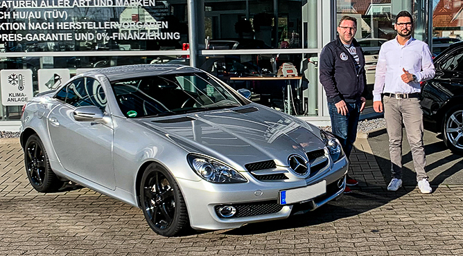 Mercedes-Benz SLK 200 - Gebrauchtwagen - Herr Lange - Ein zufriedener Kunde!